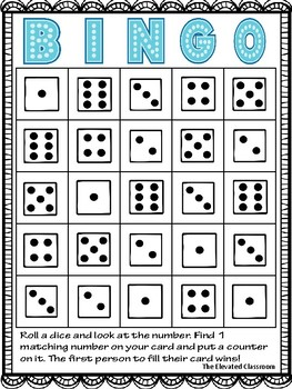 Roll a Dice Math BINGO