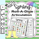 Roll-a-Dice SPRING Articulation: NO PREP Worksheets with Detachable Homework!