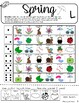 Roll-a-Dice SPRING Articulation: NO PREP Worksheets with D