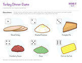 "Roll a Dice ""Turkey Dinner Plate"": Reinforcer/Craftivity"