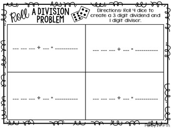 Roll a Division Problem