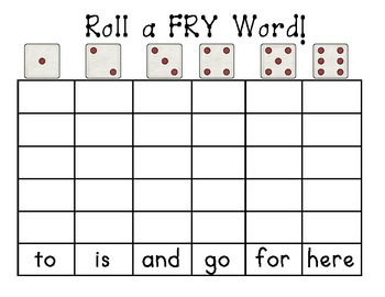 Roll a FRY Word Center/Game