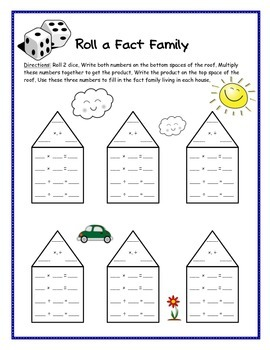 Fact Family Games - {Multiplication and Division Facts, Common Core Aligned}