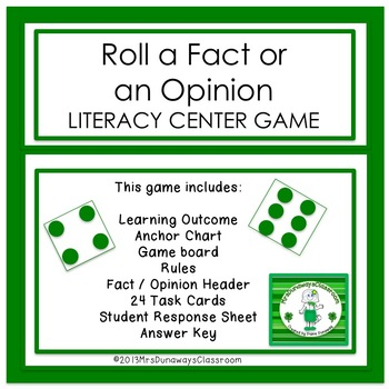 Roll a Fact or Opinion