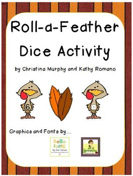 Roll-a-Feather Dice Activity
