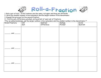 Roll a Fraction