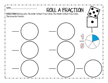 Roll a Fraction Game
