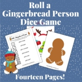 Roll a Gingerbread Man Game Winter Dice Game + Craft