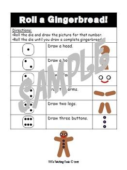 Roll a Gingerbread Math Fun!