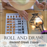 Roll and Draw! - Ancient Greek Vases - with video for distance learning!