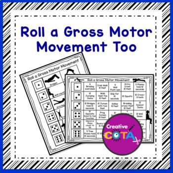 Brain Break Activity: Roll a Gross Motor Movement Too