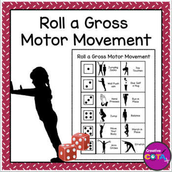 Roll a Gross motor movement Brain Break