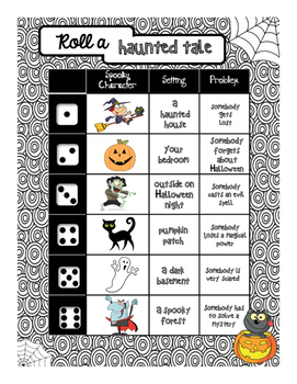 Roll a Halloween Story - French and English versions included | TpT
