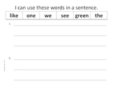 Differentiated High Frequency Word Practice- Unit R