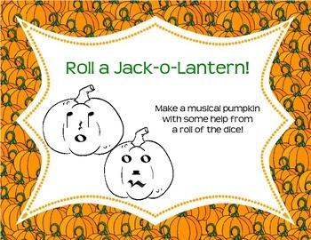 Roll a Jack-O-Lantern: Music Version!