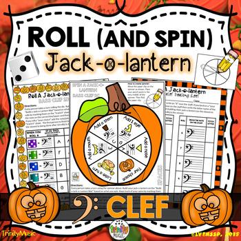 Roll a Jack-o-Lantern (Bass Clef)