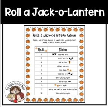 Roll a Jack-o-Lantern Dice Game