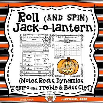 Roll a Jack-o-Lantern (Music BUNDLE)