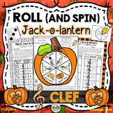 Roll a Jack-o-Lantern (Treble Clef)