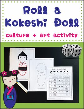 Roll a Japanese Kokeshi Doll