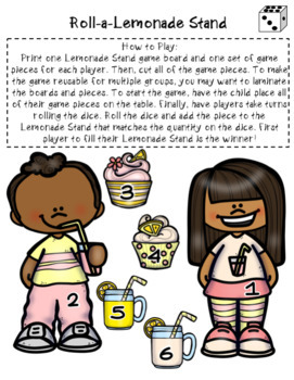 Roll a Lemonade Stand Game