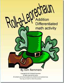 Roll-a-Leprechaun Differentiated Addition Activity
