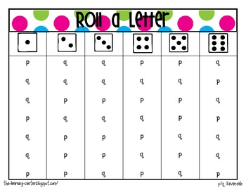 Roll a Letter {Dice Game}