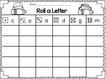 Roll a Letter FREEBIE