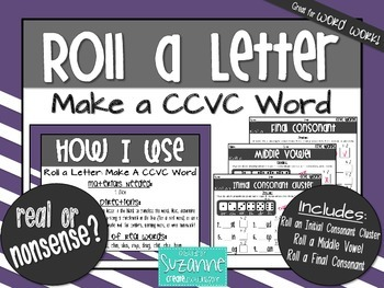 Roll a Letter: Make a CCVC Word