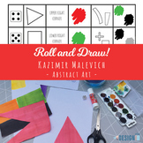 Roll a Malevich! - Abstract Art - A4 size