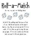 Roll-a-Match: An or, ar and er Memory Game