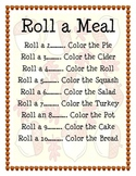 Roll a Meal Thanksgiving Game