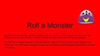 Roll a Monster - Fun Shape Practice