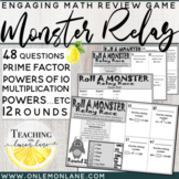 Powers of 10 Dice Game w/ Multiplication, Prime Factors, Exponents... etc REVIEW