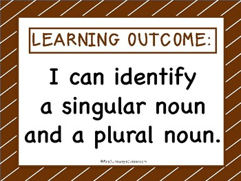 Roll a Noun - Singular and Plurals