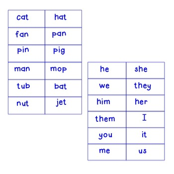 Roll a Noun or Pronoun (kinder/1st)