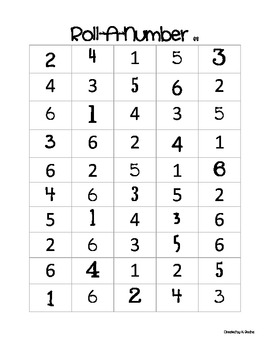 Roll-a-Number: A Dice Game