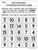 Roll-a-Number: Comparing Numbers Bingo