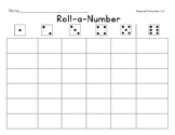 Roll-a-Number Dice Game for Numeral Formation 1-6