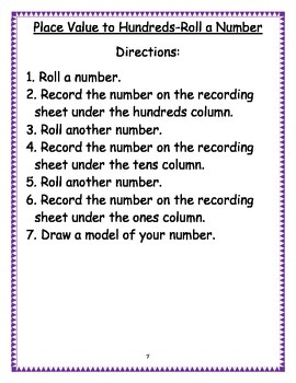 Roll a Number Math Games