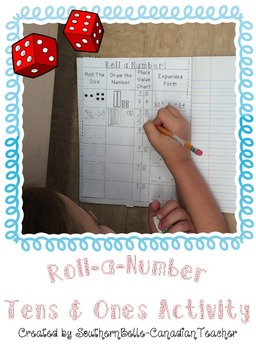 Roll-a-Number: Tens & Ones Place Value Activity (W/ SMARTNOTEBOOK VERSION!!)