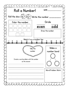 Roll a Number for Number of the Day!