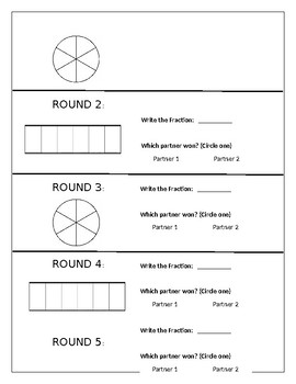 Roll a Numerator - Dice Game for Fractions