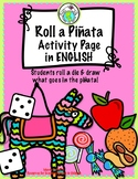 Roll a Piñata ENGLISH Multicultural Activity Page