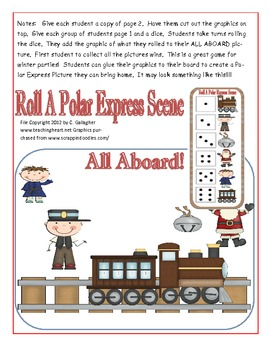 Roll a Polar Express Math Dice Game For Polar Express Day Unit