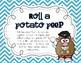 Roll a Potato Peep {freebie}