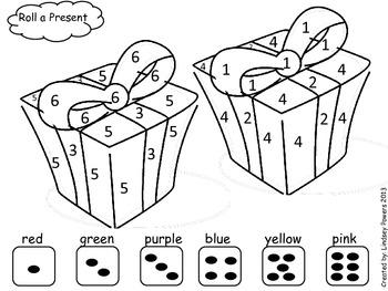 Roll a Present - Christmas Math Fun for Kindergarten