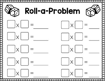 Roll a Problem Single Digit Multiplication