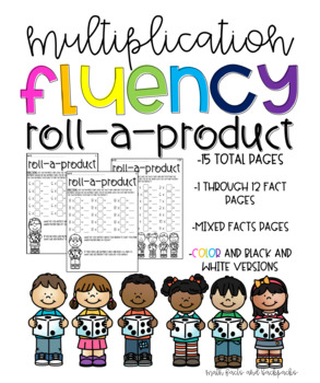Roll a Product Multiplication Fluency Game