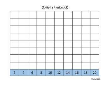 Roll a Product - Multiplication Game
